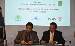 M/s Sachel Energy Development (Pvt) Ltd achieved Financial closing of 49.9MW wind power project