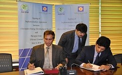 M/s Harappa Solar Pvt. Ltd (HSPL) has signed Implementation Agreement (IA) with AEDB for their 18MW