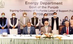 Signing Ceremony of TLOS PPDB, AEDB and Zhenfa Pakistan New Energy Ltd